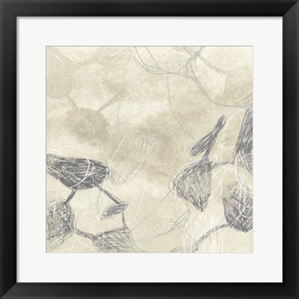 Framed Graphite Inversion I Print