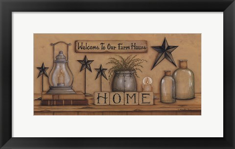 Framed Welcome To Our Farmhouse Print