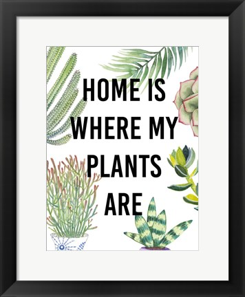 Framed Plant Love VI Print