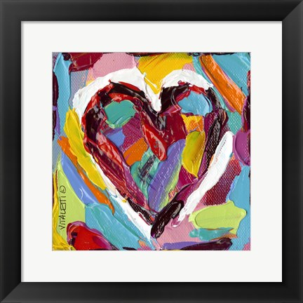 Framed Colorful Expressions III Print