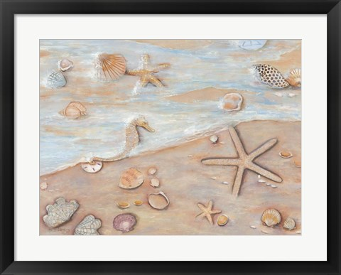 Framed Gifts of the Sea I Print