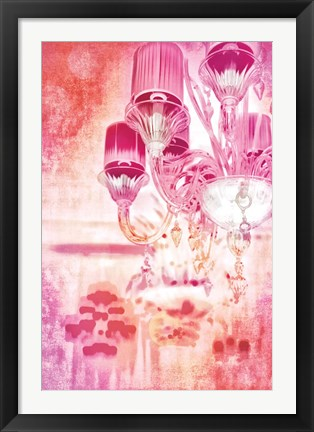 Framed Pink and Gold Print
