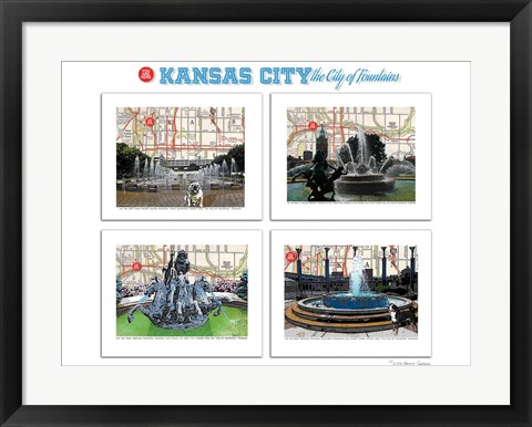Framed KC City of Fountains Print