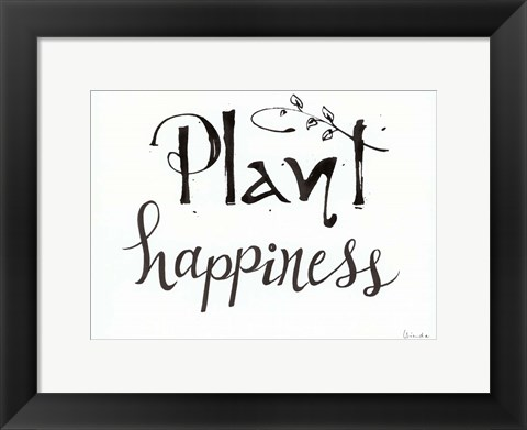 Framed Plant Happiness Print