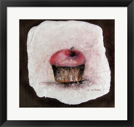 Framed Cupcake with a Cherry on Top Print