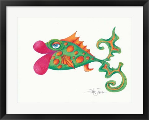 Framed Flamboyant Fish II Print
