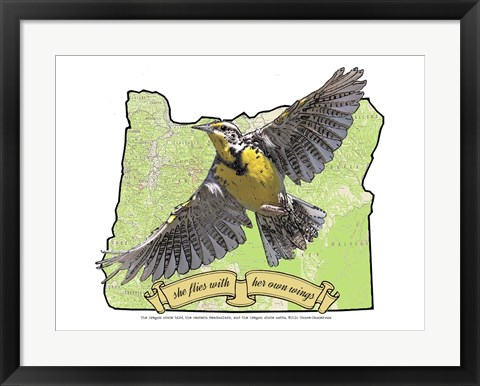 Framed Oregon State Bird Print