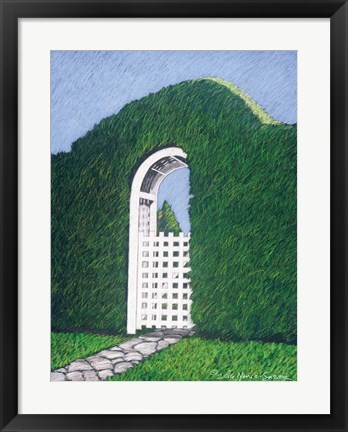 Framed Topiary Gateway Print