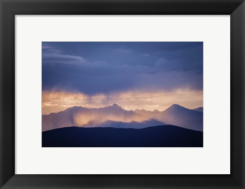 Framed Mountain Layers Print