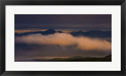 Framed Mountains and  Cloud Print