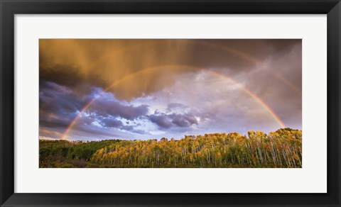 Framed Double Rainbow Print
