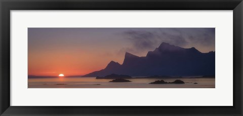 Framed Sunset Silhouette Print