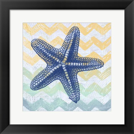 Framed Chevron Star Fish Print