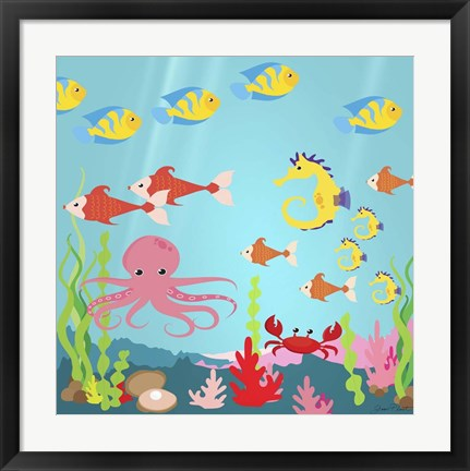 Framed Under The Sea I Print