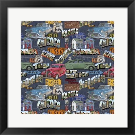 Framed Route 66 - Cars III Print