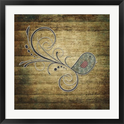 Framed Whirly Bird Wood Print