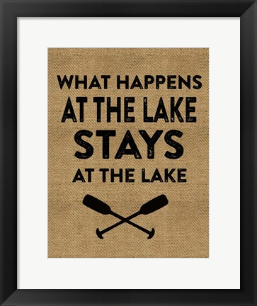 Framed Stays At The Lake Print