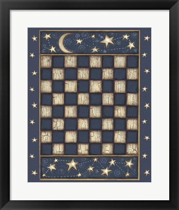 Framed Star Checkerboard Print