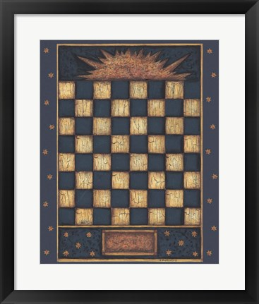 Framed Sun Checkers Print
