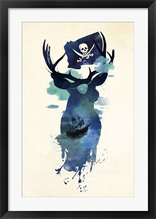 Framed Captain Hook Print