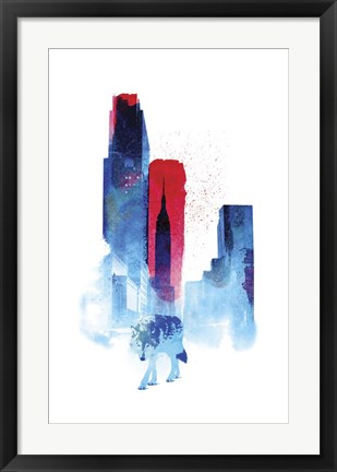 Framed Wolf Of The City Print