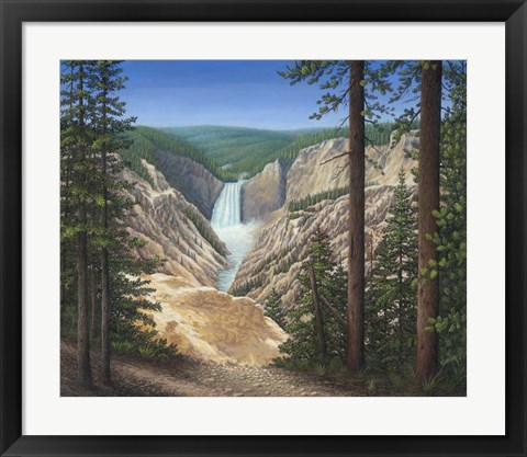 Framed Lower Falls - Yellowstone Print