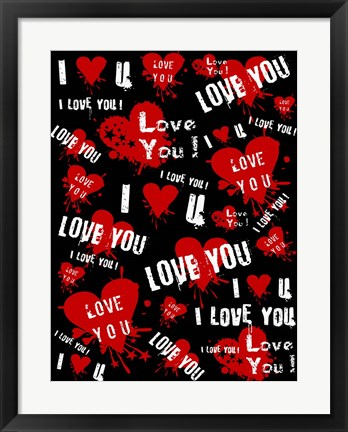 Framed I Love You Print