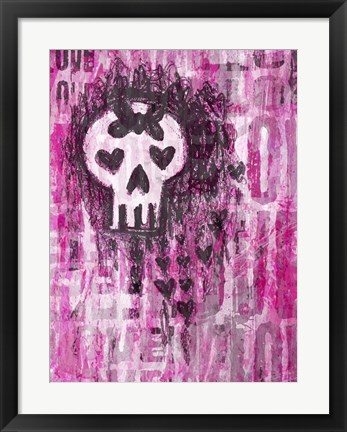 Framed Love Skull Princess Print