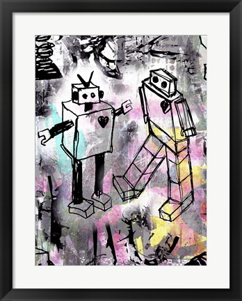 Framed Robot Love Color Print