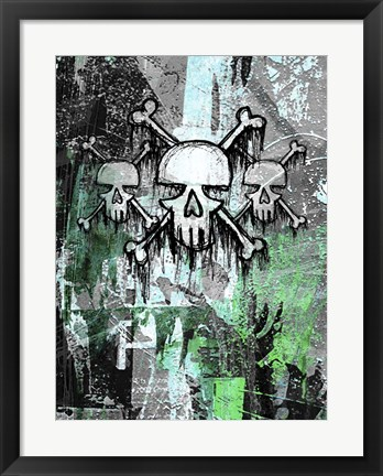 Framed Triple Skulls Print