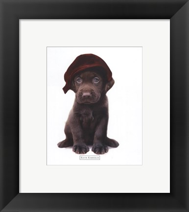 Framed Lab Hat Print