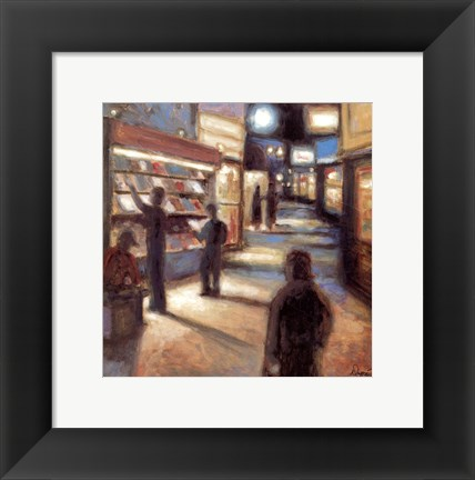 Framed News Stand (Art Dreams) Print