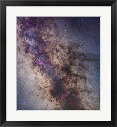 Framed Center of the Milky Way in Sagittarius and Scorpius Print