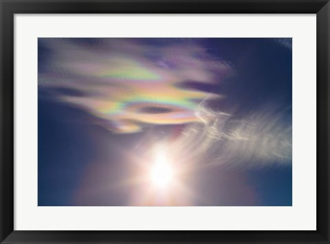Framed Iridescent clouds near the Sun Print