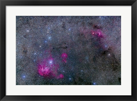 Framed Pearl Cluster and Lambda Centauri complex in Centaurus Print