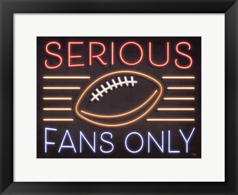 Framed Neon Football Fans Print