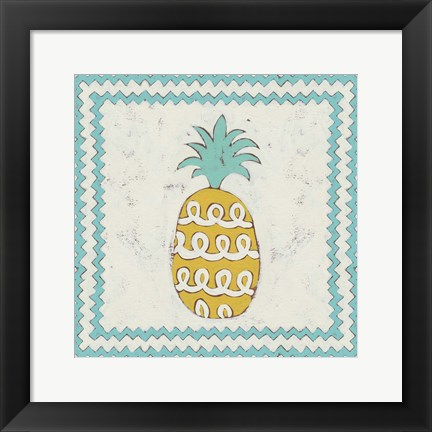 Framed Pineapple Vacation IV Print