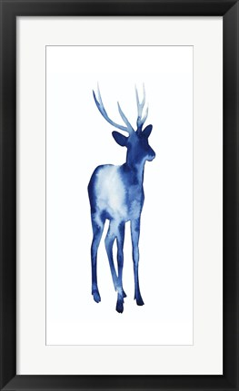 Framed Ink Drop Rusa Deer I Print