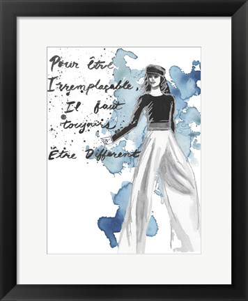 Framed Fashion Quotes IV Print