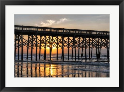 Framed Pier Reflections II Print