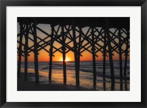 Framed Under the Boardwalk Print