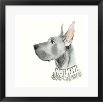 Framed Haute Hounds I Print