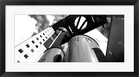 Framed Low angle view of a skyscraper, Umeda Sky Building, Kita-Ku, Osaka, Japan Print