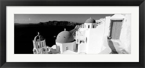 Framed Church in a city, Santorini, Greece Print