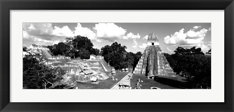 Framed Ruins Of An Old Temple, Guatemala Print