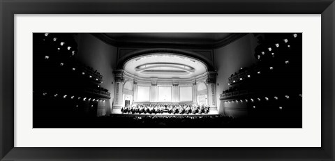 Framed Performers on a stage, Carnegie Hall, NY Print