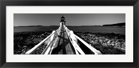 Framed Marshall Point Lighthouse, built 1832, rebuilt 1858, Port Clyde, Maine Print