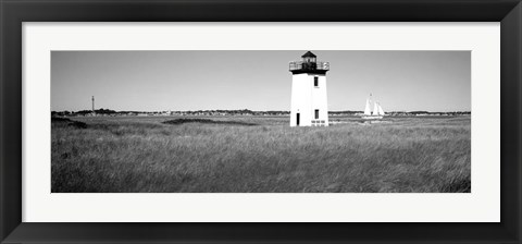 Framed Long Point Light, Long Point, Provincetown, Cape Cod, Massachusetts Print