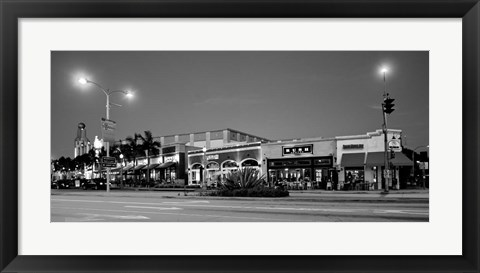 Framed Night scene of Downtown Culver City, Culver City, Los Angeles County, California Print