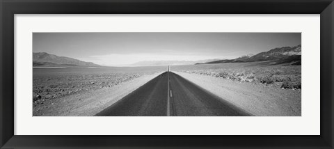 Framed California, Death Valley, Empty highway in the valley Print